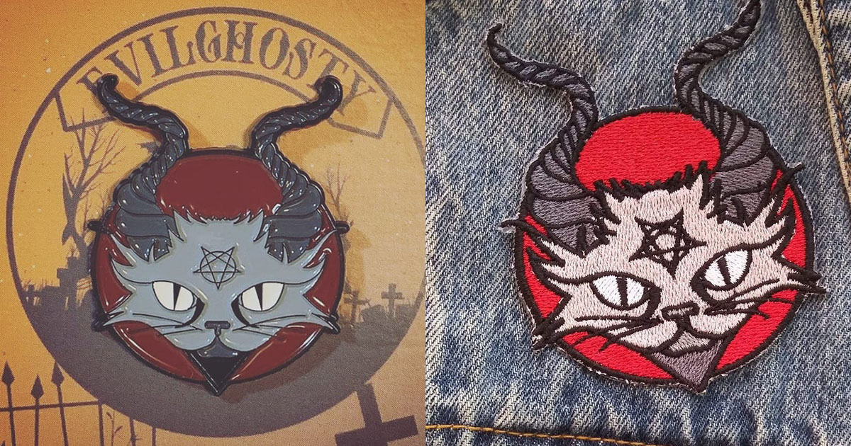 BaphCat Patches & Pins Now Available from AnarchyBorgir & EvilGhosty