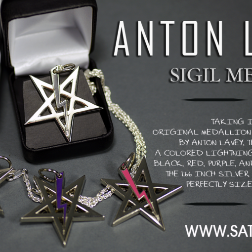 Church of Satan Sigil of Anton LaVey BLACK Stainless Steel NEW* 316L