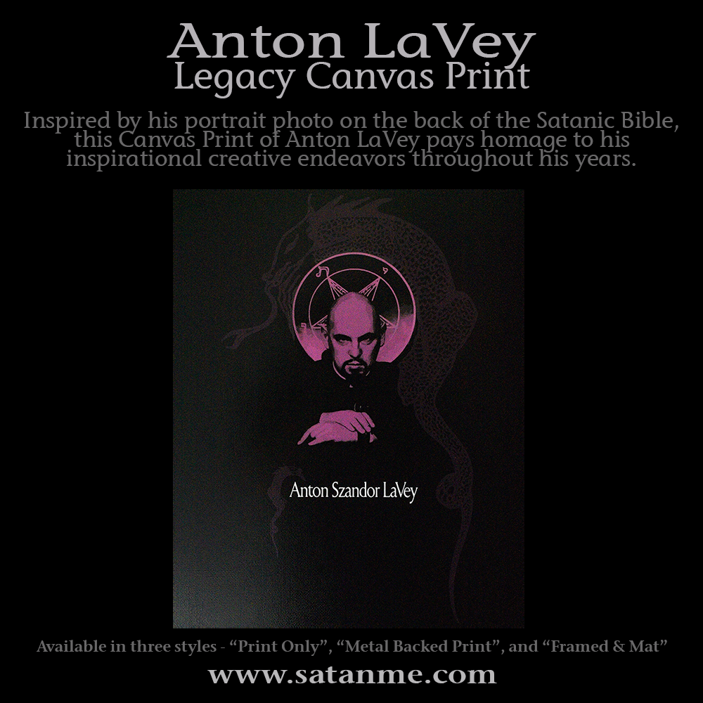 Satanme presents the Anton LaVey Legacy Canvas Print