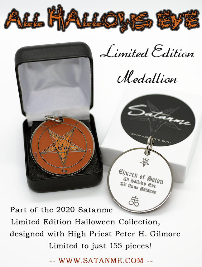 All Hallows' Eve – Limited Edition Baphomet Cloisonné Medallion by Satanme