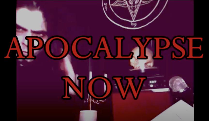 """Reverend Count MoriVond reads """"Apocalypse Now."""""""