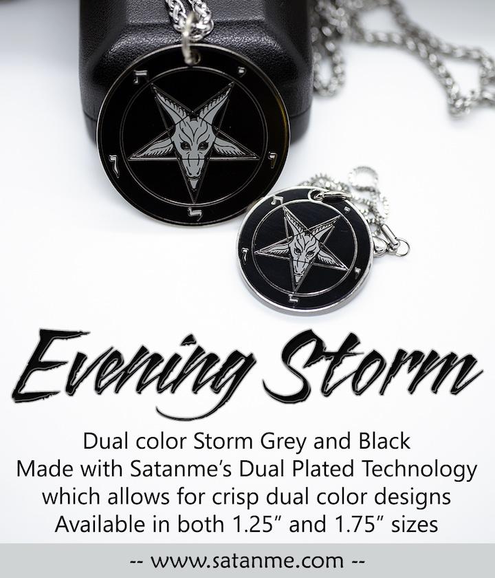 Evening Storm – Baphomet Cloisonné Medallion by Satanme