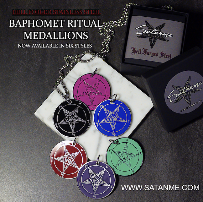 Baphomet Ritual Medallions – Hell Forged Steel by Satanme