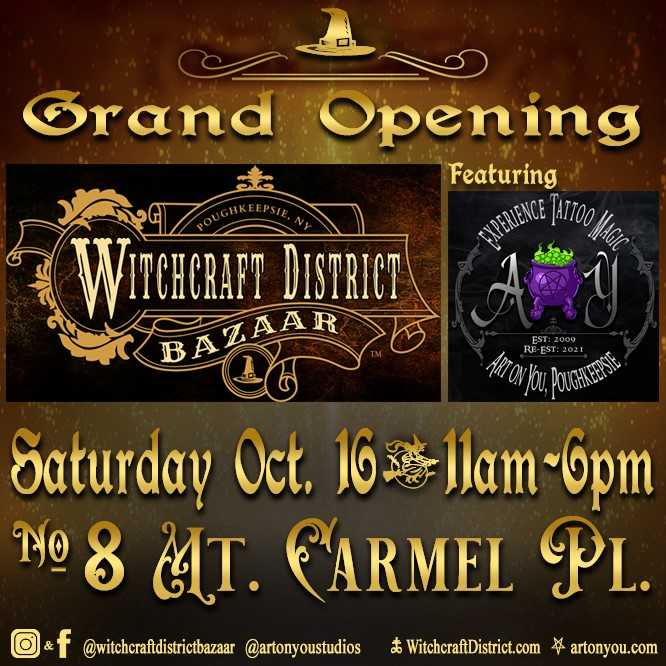 Grand Opening of Witchcraft District Bazaar featuring Art on You